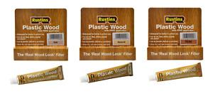 Rustins Plastic Wood Filler with Free Applicator Teak Oak Natural Pine