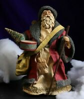 """Large Vintage Old Fashioned Santa Figurine Midwest made in Taiwan 9.5"""" approx."""