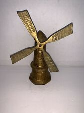 Vintage Brass Dutch Windmill Bell 4 1/2'