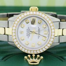 Rolex Datejust Ladies 2-Tone Gold/Steel 26MM Oyster w/MOP Diamond Dial & Bezel