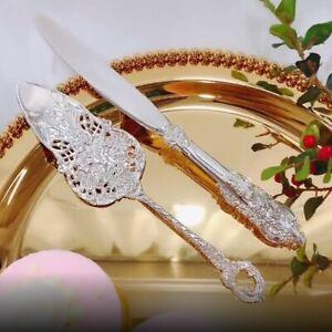 Wedding Cake Tools Set Elegant Wedding Cake Silver Shovel Knife Wedding Decora