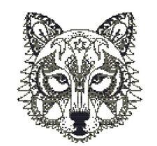 CROSS STITCH KIT -  BLACKWORK DOG  21 X 24 CM