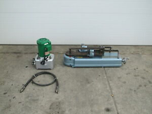Parker 632 Hydraulic Power Tubing Bender w/ Electric Pump No Tooling Used