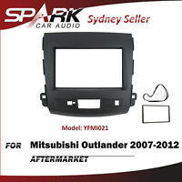 SP Double DIN Facia Fascia Panel Plate Dash For Mitsubishi Outlander 2007-2012