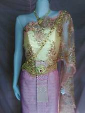 THAI WEDDING DRESS TRADITIONAL DRESS BRIDAL DESIGN ETHNIC STUNNING GOWN PK1