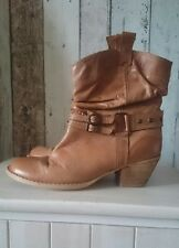 Red herring Tan leather boots Size 6