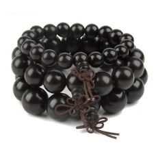 Natural Wood Bracelet Men Women Beads Bangle Black Bracelets Sandalwood Bangles