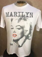 Marilyn Monroe Authentic Vintage Flash Back White T-Shirt 1985 Size Medium 80's