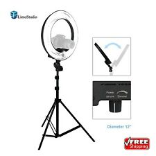 "LimoStudio 12"" Ring Light Dimmable Continuous Photography Lighting Kit 5500K"