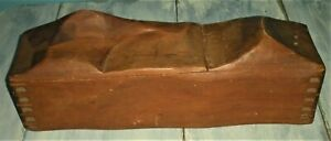 ANTIQUE c1960s WOOD DOVETAILED MID-CENTURY MODERN BOX CHEST MOUNTAIN SCENE vafo