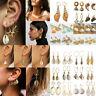 Bohemian Natural Shell Drop Earrings Conch Sea Starfish Dangle Earrings Jewelry