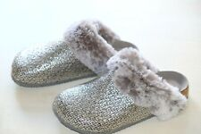 Clarks Silver ladies mules slippers size 3/35.5 - 8/42 D