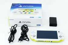 Sony PS Vita Lime Green White PCH-2000 w/ Charger + Box  FW 3.65 [Excellent+]