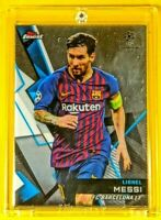 Topps Finest Lionel Messi Barcelona Jersey UEFA Champions League Chrome Like🔥