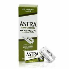 Astra Superior Platinum Double Edge  Blades - 20 cartons of 5 (100Pcs)