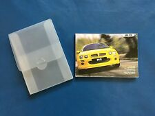 MG ZR (Pre-facelift) Owners Handbook