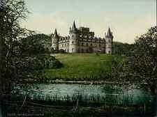 Argyle. Inveraray Castle. PZ vintage photochromie, photochrom photochromie, vi