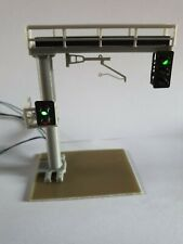 More details for model railway 2 track aspect light signal gantry with catenaries 1.76 oo gauge