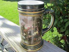 "Vintage German Porcelain Beer Mug Lithopane Bottom 5.75"" Tall..."