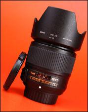 Nikon AF-S 35mm F1.8 G ED AF Full Frame Prime Nikkor Lens + F/R Lens Caps + Hood