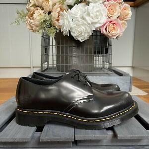 Dr Martens 1461 Arcadia Leather Black Silver Shoes UK 9 EU 43 US 10 RARE