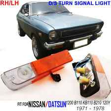 FRONT TURN SIGNAL LAMP 1xRH 1xLH AMBER CLEAR FIT FOR DATSUN 1200 B110 KB110 120Y