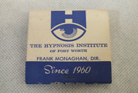 Vintage Hypnosis Institute of Fort Worth Texas Match Book Match Cover