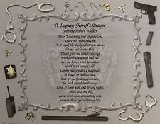 Gift for Deputy A Deputy Sheriff's Prayer Fathers Day Gifts Birthday Gift Son