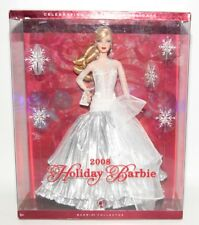 Holiday 2008 Barbie Doll NRFB Silver Gown Snowflake Accents