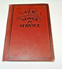 1929 New Songs For Service Music Book All Church Services Rodeheaver Vintage