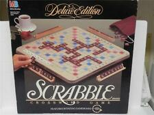 Deluxe Edition Rotating Scrabble Crossword Game Near Mint Complete In Box