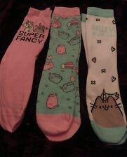 OFFICIAL Cute 3 Pack Pusheen Socks size UK 4-7 women's 11 years+ unicorn  kawaii