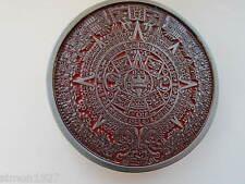 Aztec calender belt buckle.