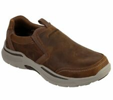 Skechers Slip On Mens Loafers Relaxed Fit: Expended - Morgo Memory Foam Shoes