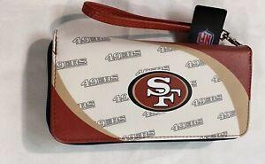 San Francisco 49ers NFL Women's Curve Zip Organizer Wallet / Purse