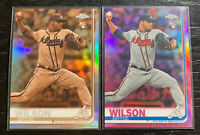 Bryse Wilson RC Refractor Lot(2) 2019 Topps Chrome #56 Atlanta Braves