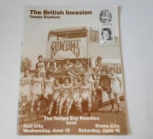 Rare Football Programme. Tampa Bay Rowdies v Hull City 13th June 1984 NASL Stoke