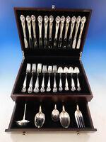Secret Garden by Gorham Sterling Silver Flatware Set For 12 Service 53 Pieces