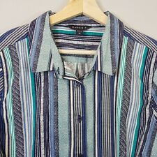 [ MAGGIE.T ] Womens Striped Shirt Top - As New   Size AU 18