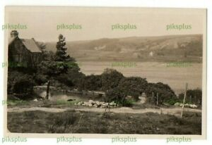 OLD POSTCARD HOLLOW MEADOWS REESERVOIR SHEFFIELD YORKS LEWIS REAL PHOTO C.1920