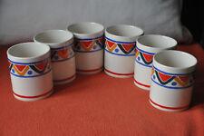 6 tasses mugs céramique Mobil vintage TBE