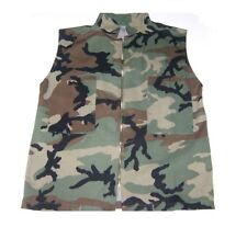 VEST Woodland camouflage Zipper Front 2 Velcro Pockets Sleeveless  fits XL-2XL