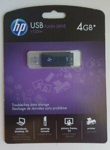 HP USB  Flash Drive v125w 4GB New