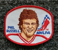 VINTAGE NHLPA EMBROIDERY HOCKEY PATCH / CREST PHIL RUSSELL NHL