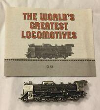Vintage 1986 Franklin Mint World's Greatest Locomotive Pewter Metal 1936 D-51
