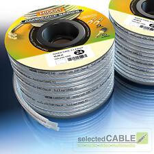 Hicon Ambience 20m Spule 2 x 4 , 0mm ² Cable de Altavoz Plateado hia-240-2000