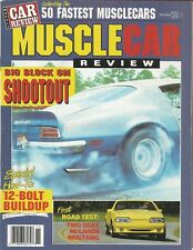 MUSCLE CAR REVIEW 1987 NOV - JETFIRE, 1st AC COBRA