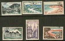 SERIE DE TIMBRES N° 976-981 OBLITERES TTB - LIEUX TOURISTIQUES