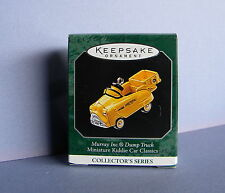 1998 Hallmark Keepsake Miniature Ornament Dump Truck #4 Kiddie Car Classics Nib