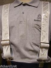 "Suspenders Safety Reflective 2""x48"" adjustable Light Grey elastic back NEW"